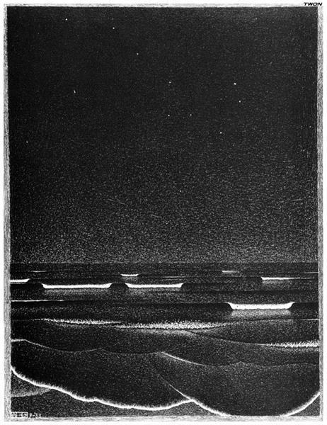 Fluorescent Sea, 1933 - M.C. Escher