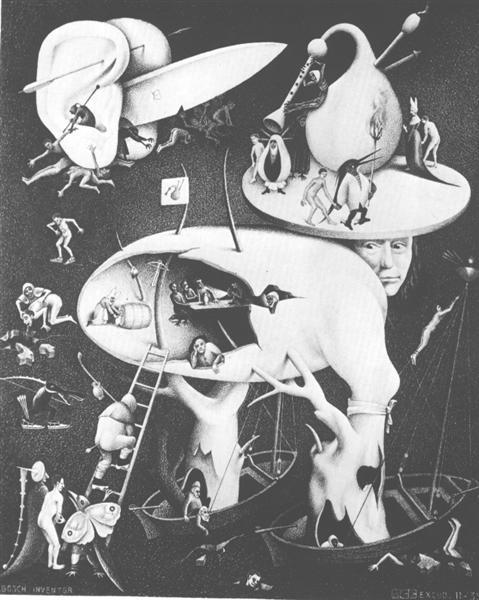 Hell, copy after Hiernonymus Bosch, 1935 - M.C. Escher