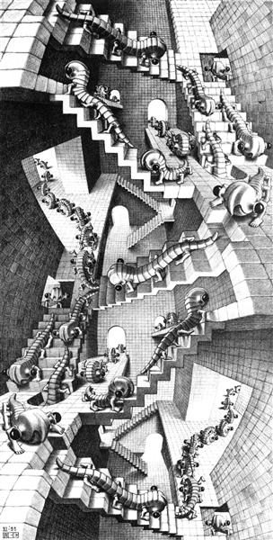 House of Stairs, 1951 - M.C. Escher