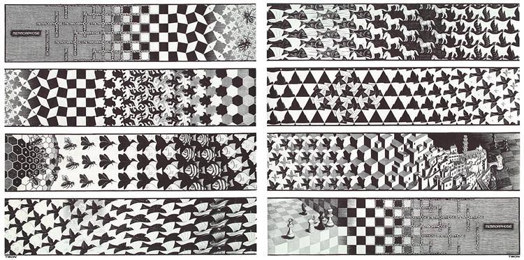 Metamorphosis III, 1967 - 1968 - M.C. Escher