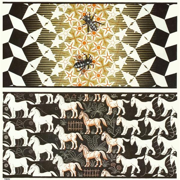 Metamorphosis III, 1967 - 1968 - Maurits Cornelis Escher