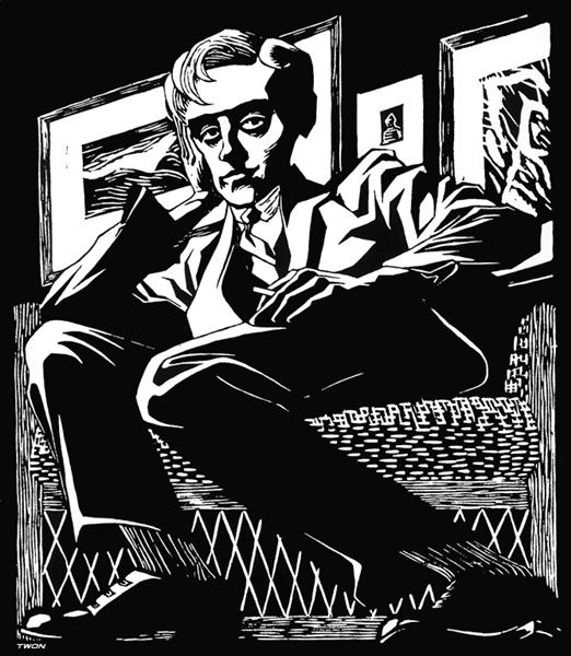 Self Portrait in a Chair, 1920 - M.C. Escher