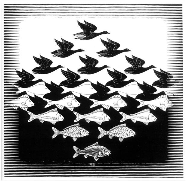 Sky and Water I, 1938 - M.C. Escher
