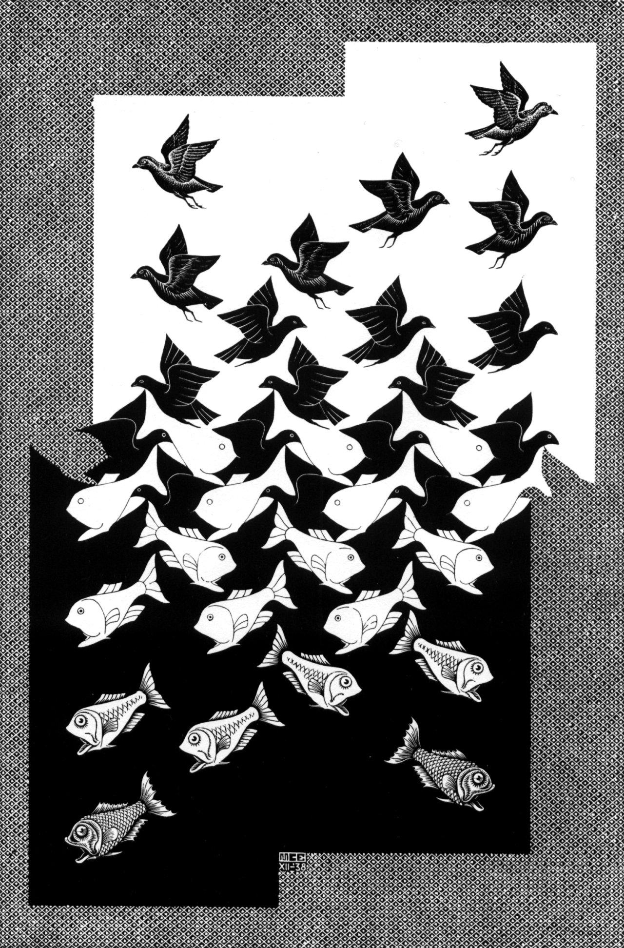 M. C. Escher Tessellations - Viewing Gallery
