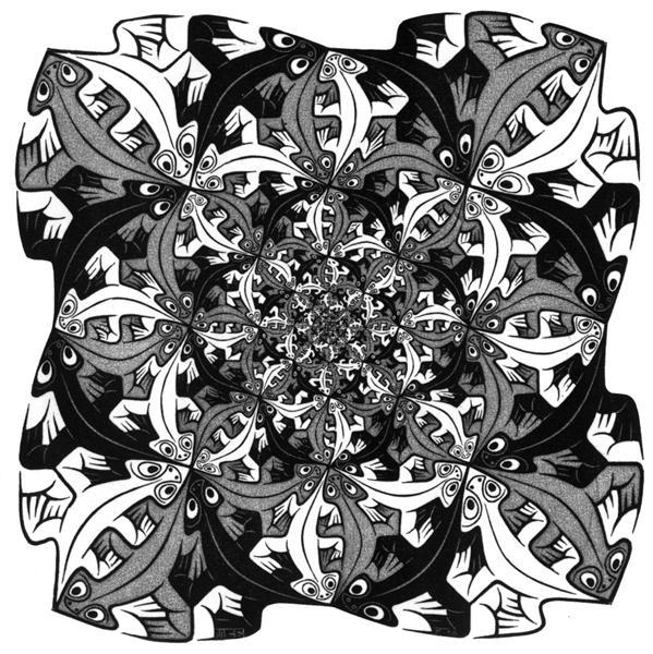 Smaller & Smaller, 1956 - M.C. Escher