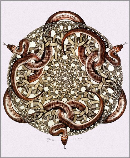 Snakes, 1969 - M.C. Escher