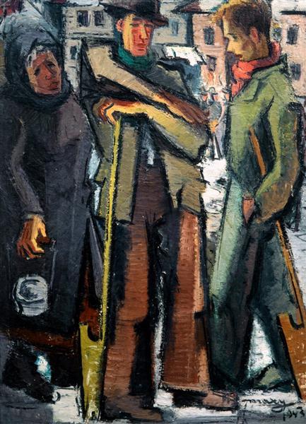 Jews in snow, 1943 - М. Х. Максі