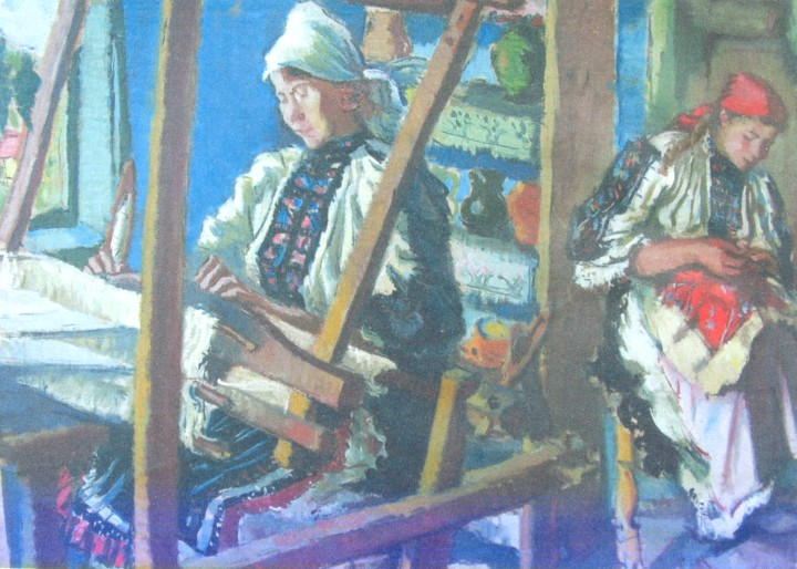 Peasant weaving at war, 1930 - М. Х. Максі