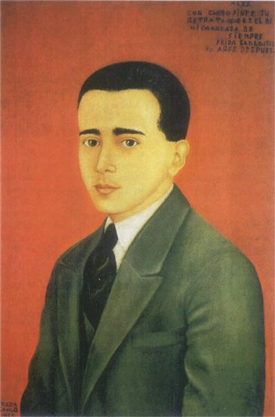 Portrait of  Alejandro Gómez Arias, 1928 - Frida Kahlo