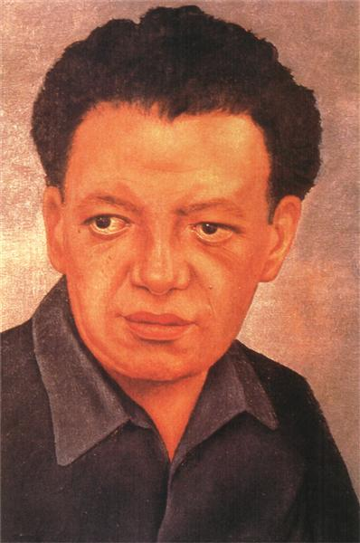 Portrait of Diego Rivera, 1937 - Frida Kahlo