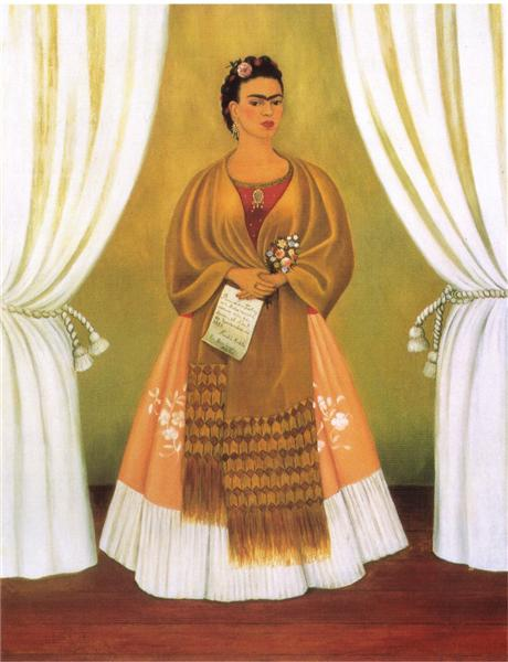 Self-Portrait Dedicated to Leon Trotsky (Between the Curtains), 1937 - Frida Kahlo