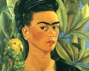 Self-Portrait with Bonito - Frida Kahlo