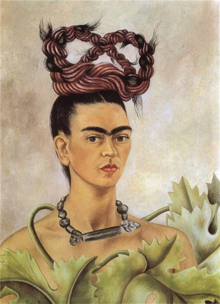 Self Portrait with Braid, 1941 - Frida Kahlo