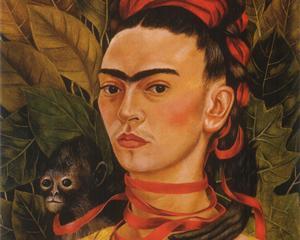 Self Portrait with Monkey - Frida Kahlo