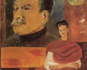 Self Portrait with Stalin - Frida Kahlo