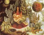 The Love Embrace of the Universe, the Earth (Mexico), Myself, Diego and Señor Xólotl - Frida Kahlo