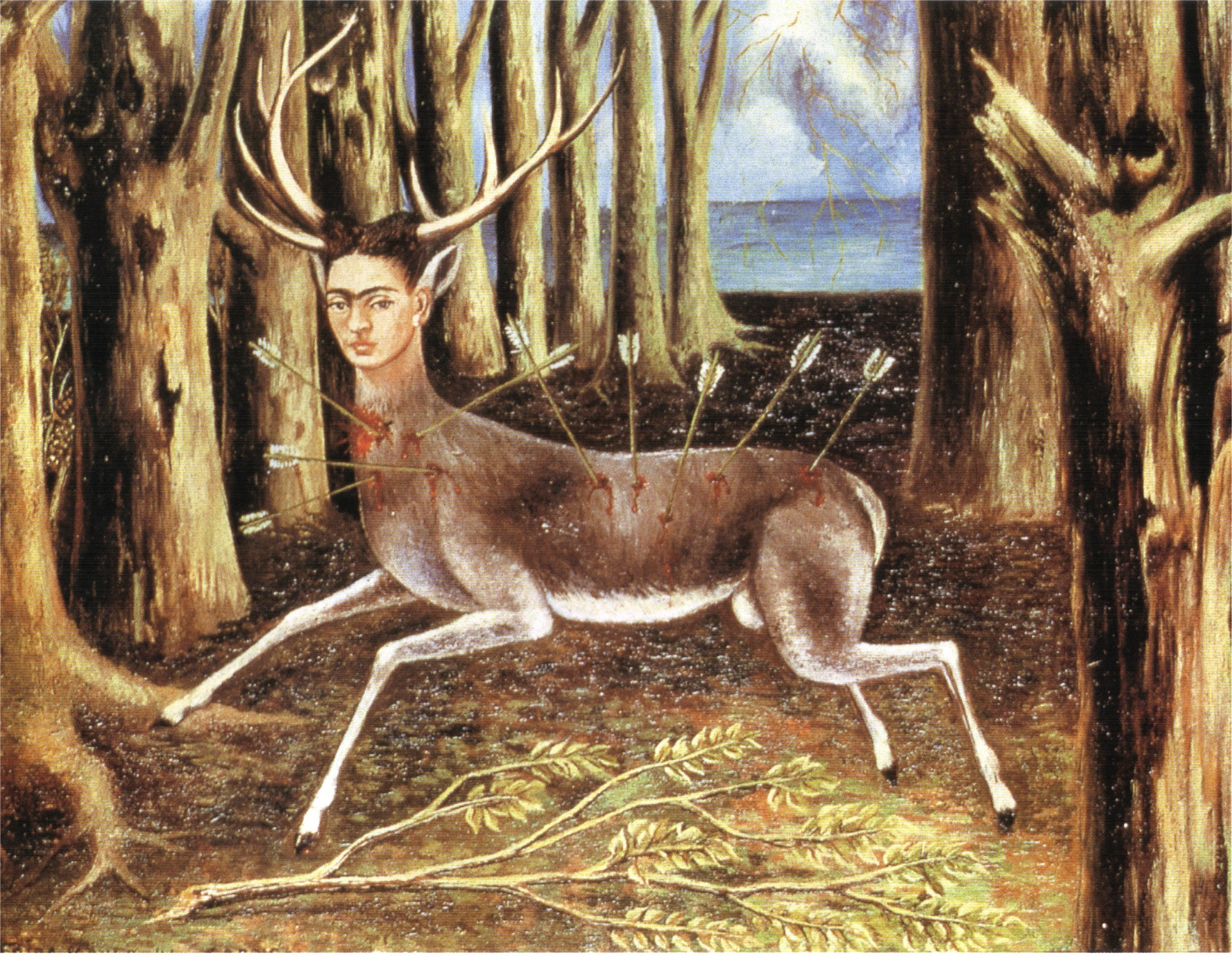 the wounded deer 1946 frida kahlo wikiart org