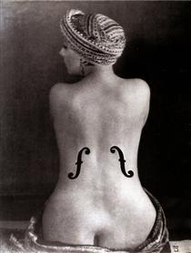 Ingre's Violin - Man Ray