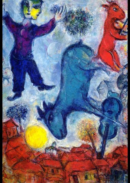 Cows over Vitebsk, 1966 - Marc Chagall