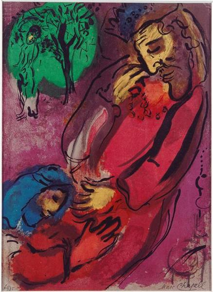 David and Absalom, 1956 - Marc Chagall