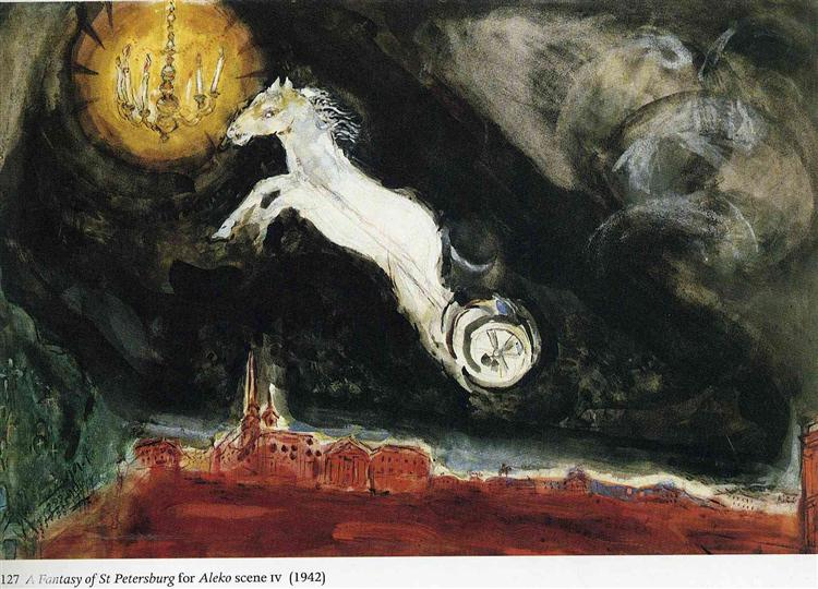 "Finale of the Ballet ""Aleko"" - Chagall Marc"