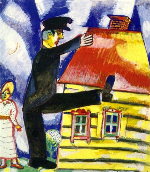 Marching, 1915 - Marc Chagall
