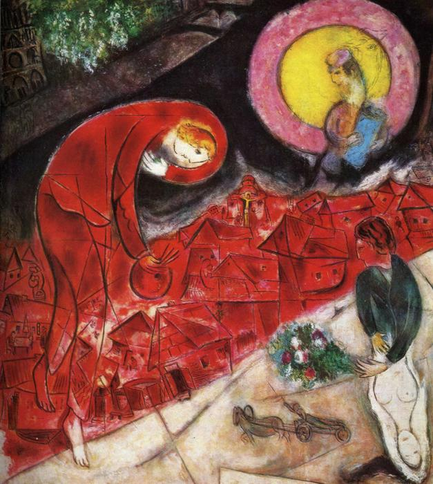 Red Roofs, 1953   1954   Marc Chagall