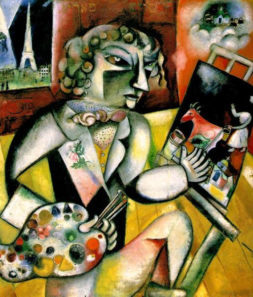 Self-Portrait with Seven Digits, 1913 - Marc Chagall