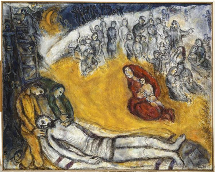 The descent from cross, 1976 - Marc Chagall