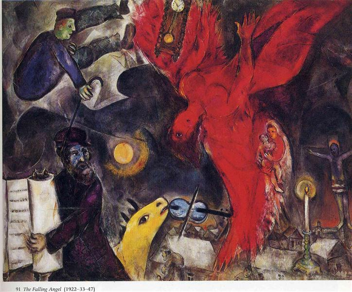 The Falling Angel, 1923 - 1947 - Marc Chagall