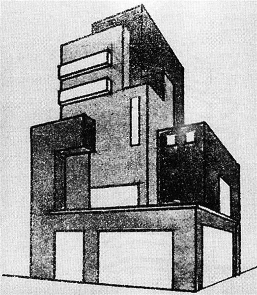Villa in the City, 1925 - Marcel Janco