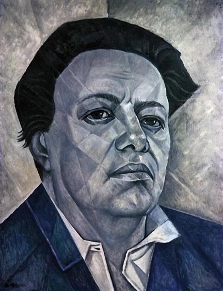 Portrait of Diego Rivera, 1960 - Marevna (Marie Vorobieff)