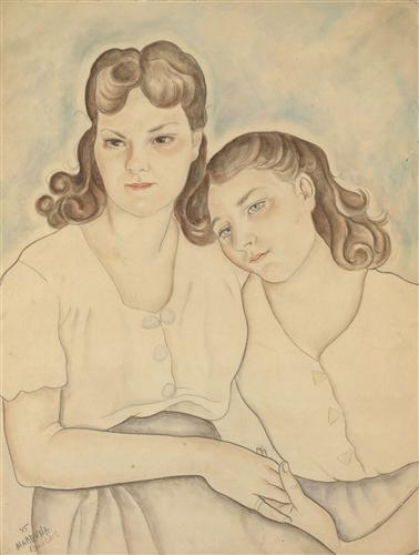 Vorobieff style expressionism genre portrait tags female portraits