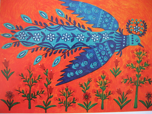 Sun-Bird, Rye and Wheat, 1980 - Maria Primachenko