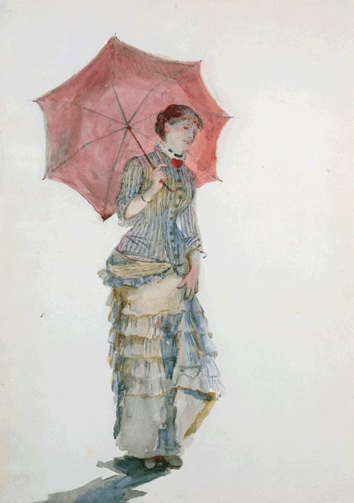 Woman with an Umbrella, 1880