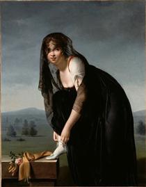 Une étude de femme d'après nature (Portrait de Madame Soustras) - Marie-Denise Villers