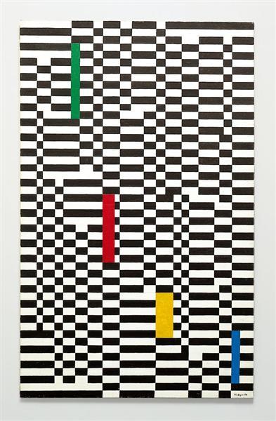 Pannello a scacchi, 1950 - Mario Nigro