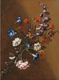 Natura morta con tralcio di fiori - Марио Де Фьори