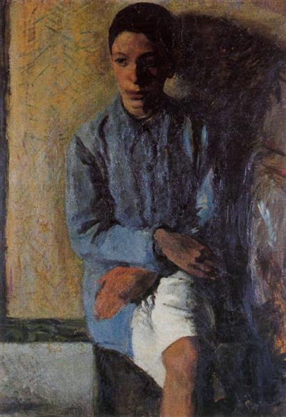 Portrait of Brother Ettore, 1910 - Mario Sironi