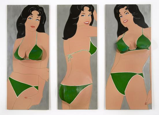 Green Triptych, 1963 - Marjorie Strider