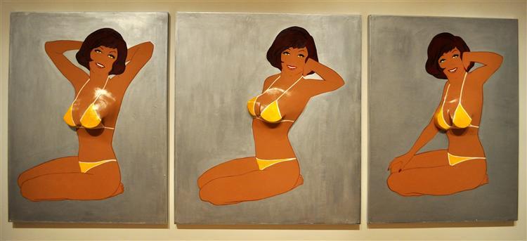 Triptych II (Beach Girl), 1963 - Marjorie Strider
