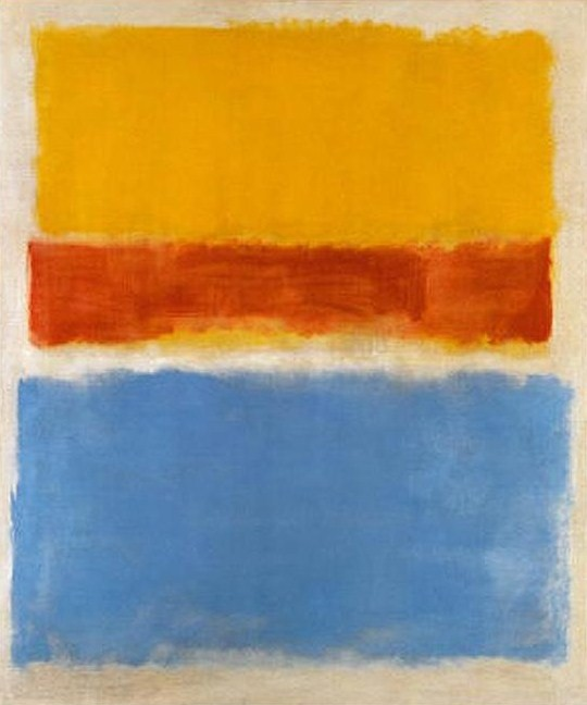untitled yellow red and blue 1953 mark rothko. Black Bedroom Furniture Sets. Home Design Ideas