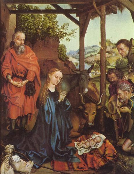 Adoration of the Shepherds, c.1475 - c.1480 - Martin Schongauer