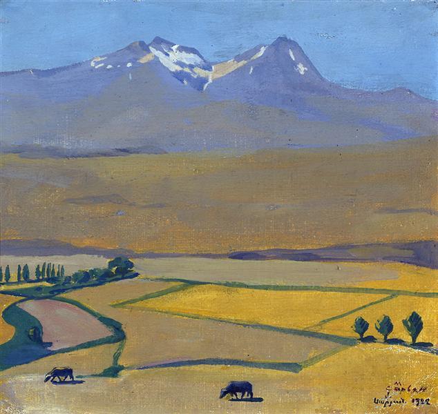 Mount Aragats at summer, 1922 - Martiros Sarian