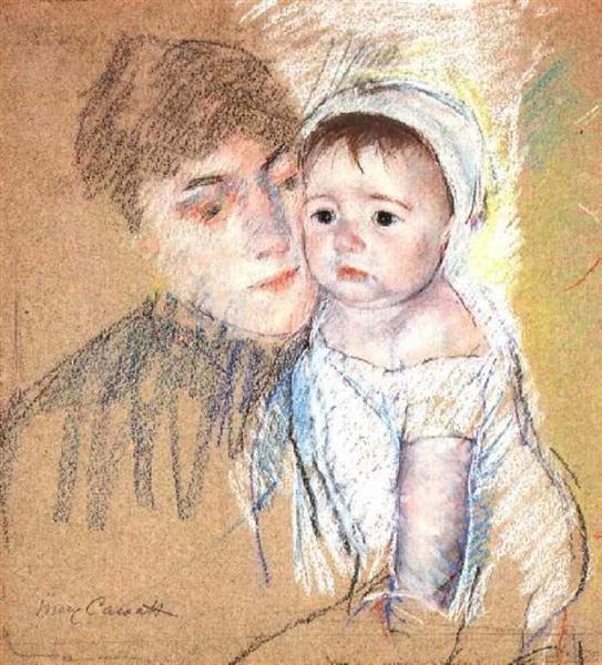Baby Bill in Cap and Shift, 1889 - 1890 - Mary Cassatt