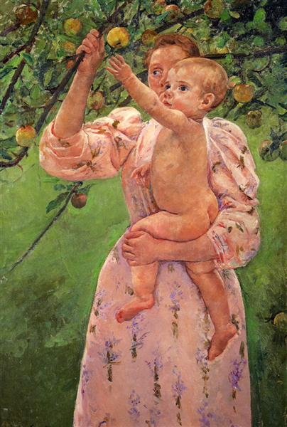 Baby Reaching For An Apple, 1893 - Mary Cassatt