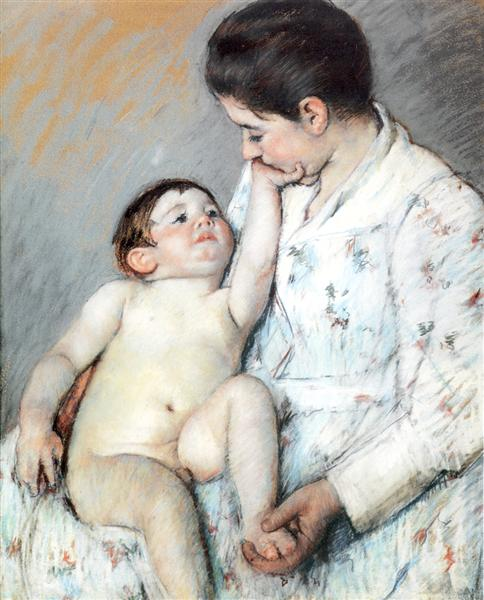 Baby`s First Cess, 1891 - Mary Cassatt