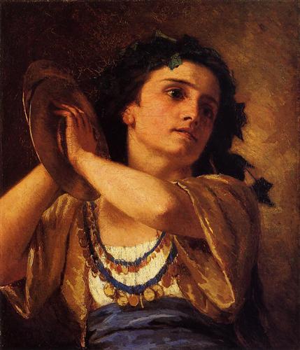 Bacchante - Mary Cassatt