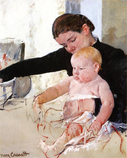 Bathing the Young Heir, c.1891 - Mary Cassatt