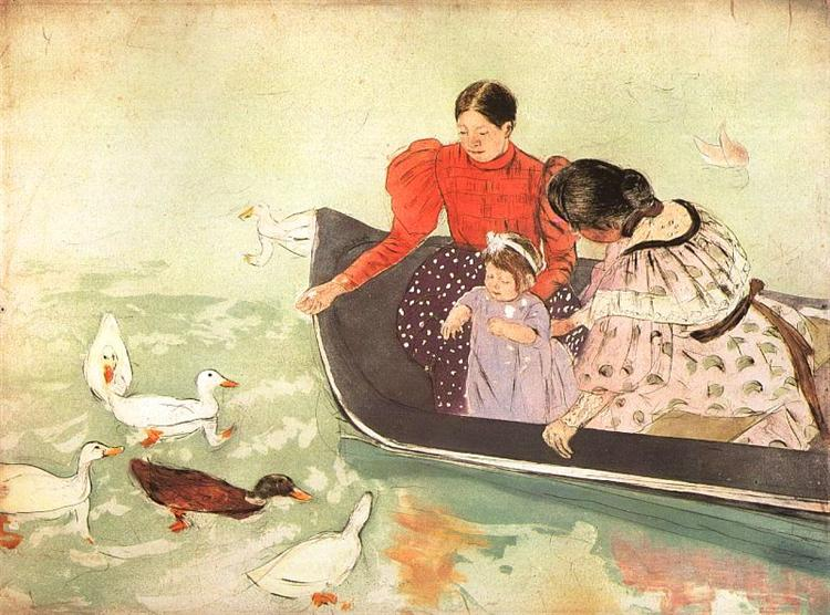 Feeding the Ducks, 1895 - Mary Cassatt